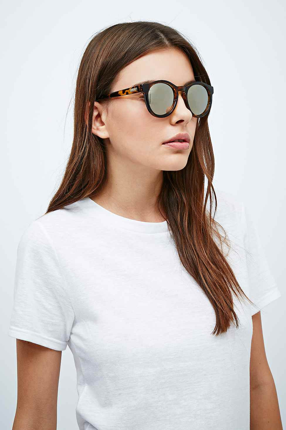 e19f6b0e59cf Le Specs Hey Macarena Mirror Lens Sunglasses In Tortoiseshell in ...