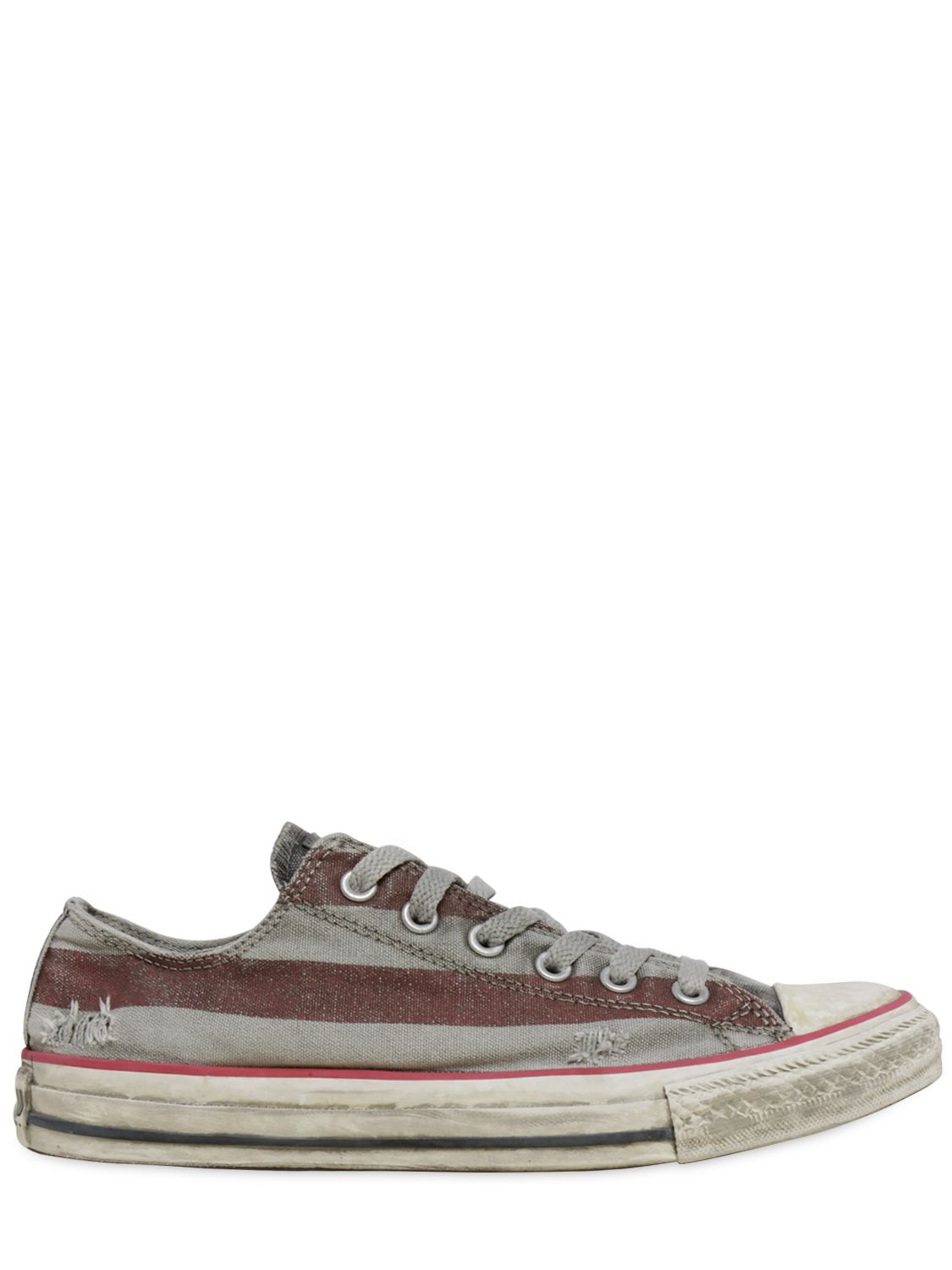 converse limited edition distressed low sneakers in gray. Black Bedroom Furniture Sets. Home Design Ideas