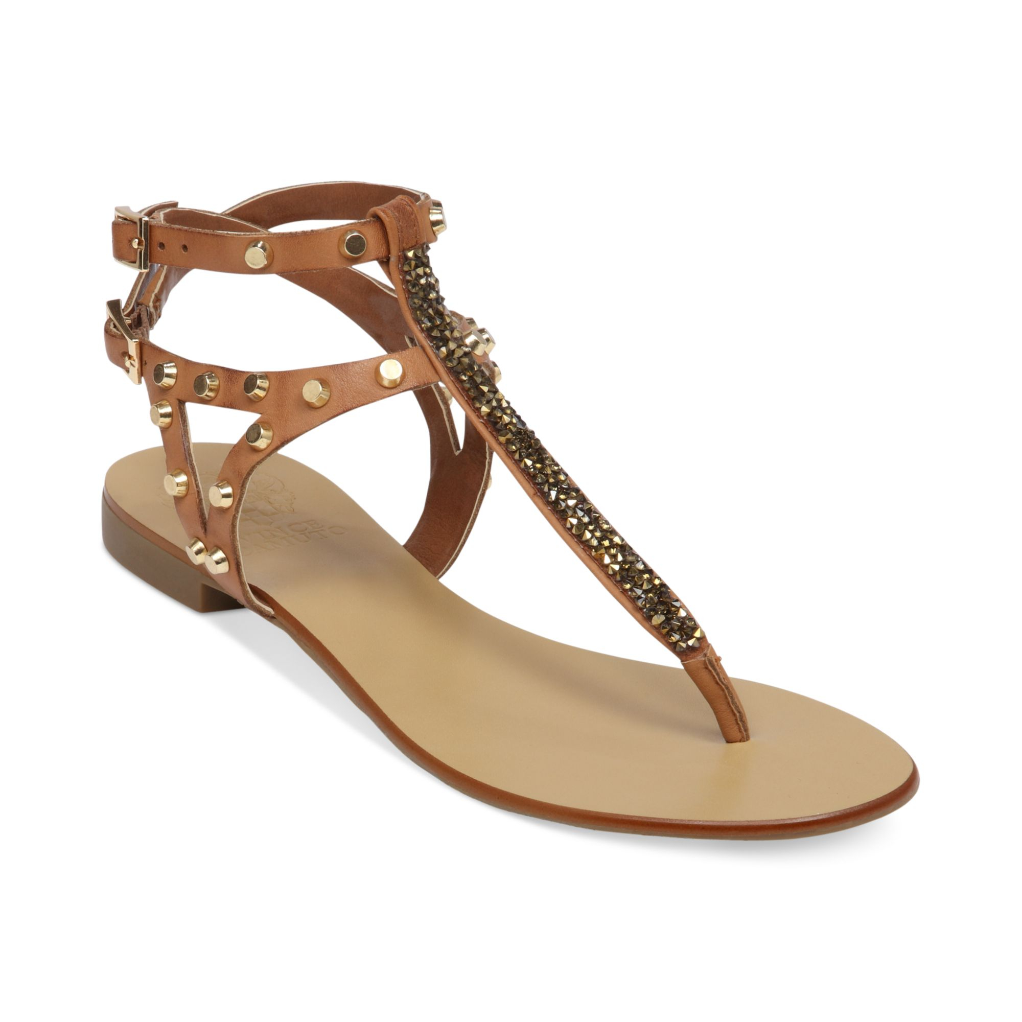 d57b08696b8 Lyst - Vince Camuto Jemile Flat Thong Sandals in Natural