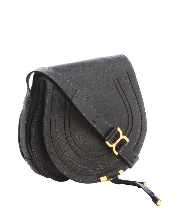 Chlo¨¦ Black Lambskin \u0026#39;marcie\u0026#39; Crossbody Bag in Black | Lyst