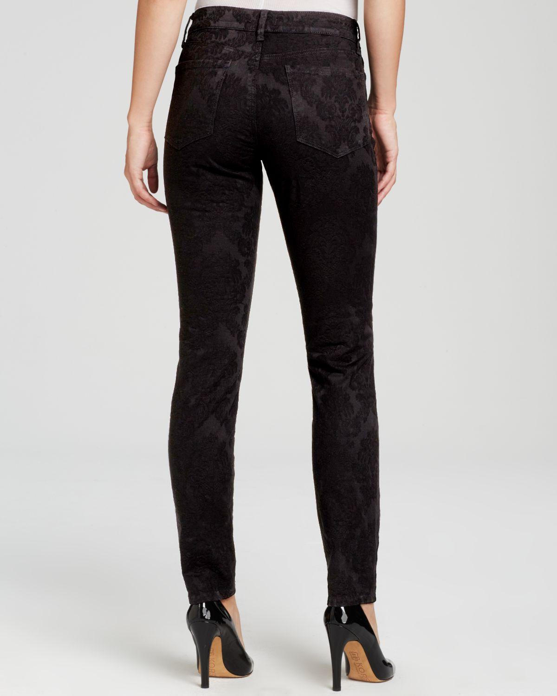 328d817fc7ffe NYDJ Petites Alina Floral Jacquard Legging Jeans In Black in Black ...