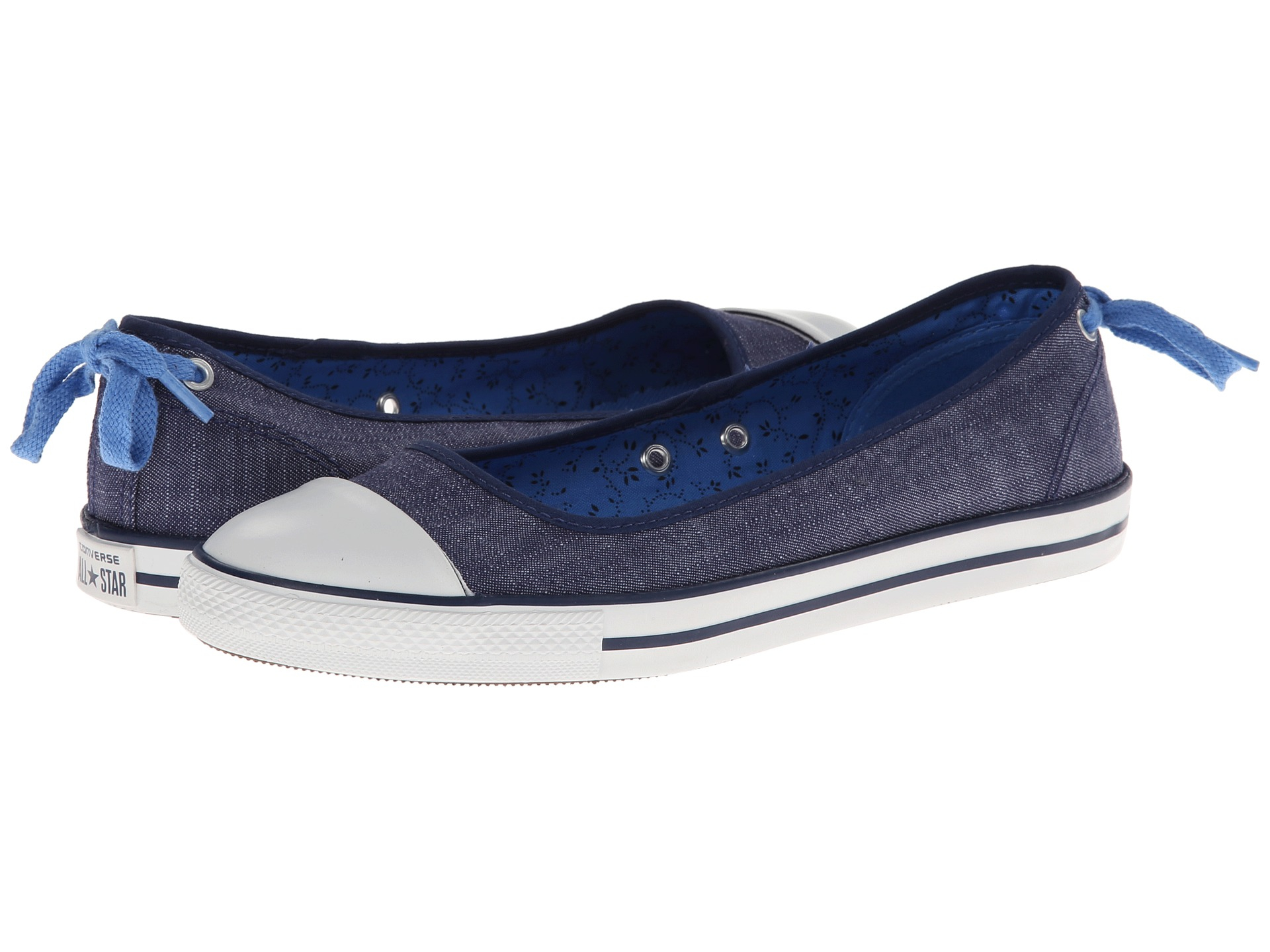 Lyst - Converse Chuck Taylor All Star Dainty Denim Ballerina Slipon ... ae8dc7354