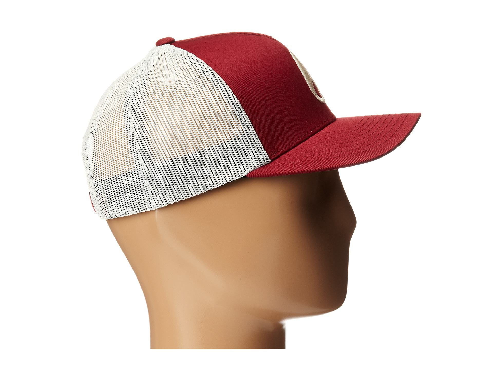aabcf7f6 Nixon Iconed Trucker Hat in Red - Lyst