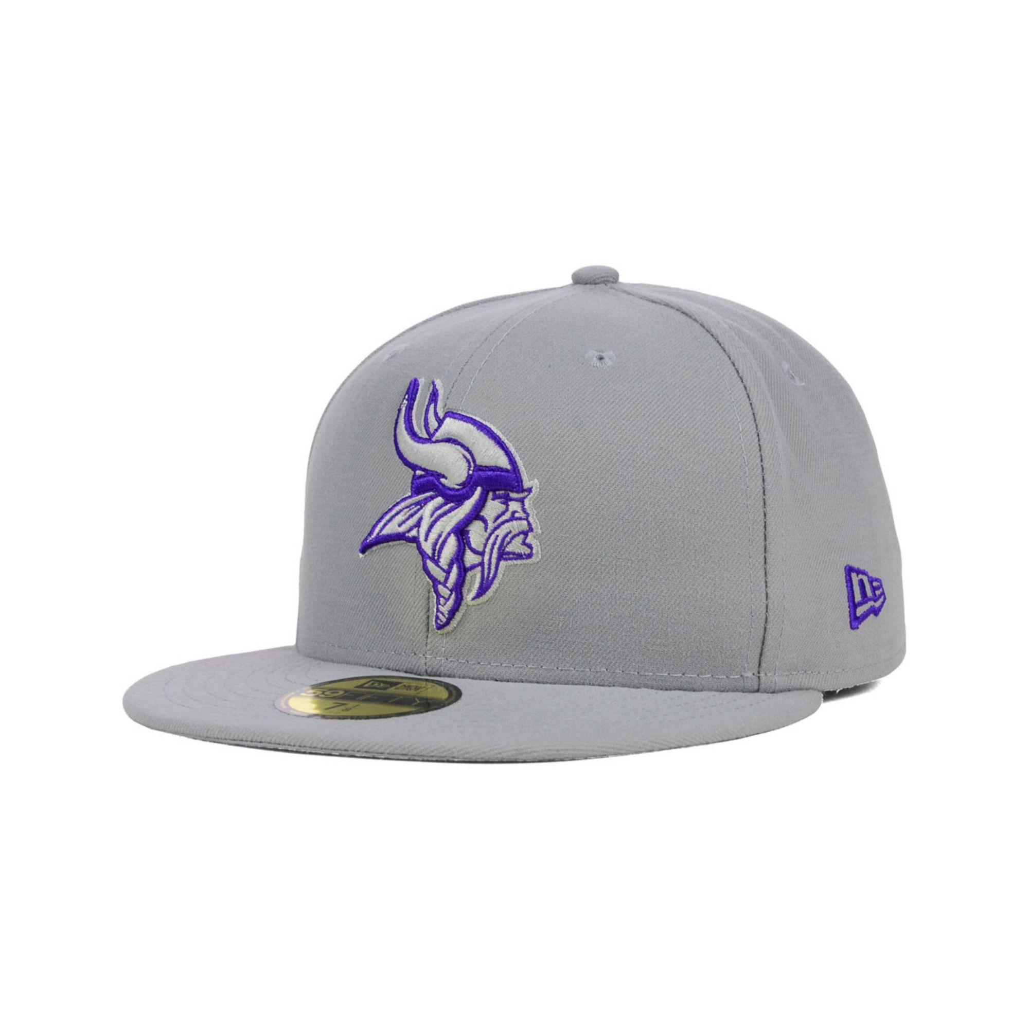 promo code 55ac2 63a3e ... fitted hat 658da 0cd56  where can i buy lyst ktz minnesota vikings pop  gray basic 59fifty cap in gray 55d0b