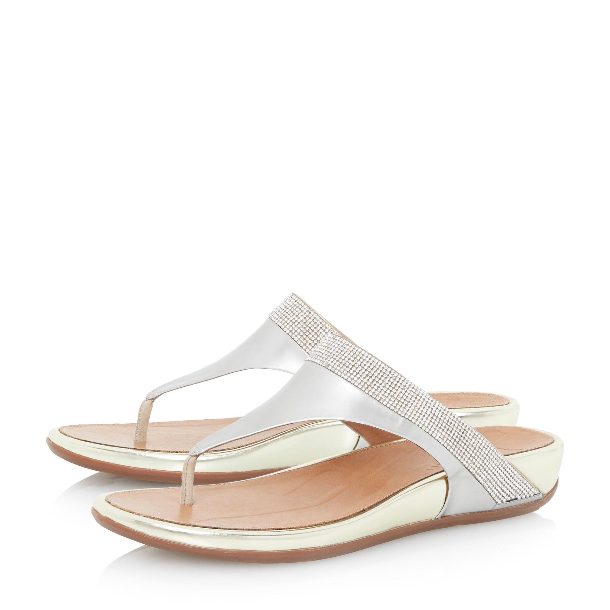 907808802 Fitflop Ff2 Crystal Banda Flat Sandals - www.mhr-usa.com