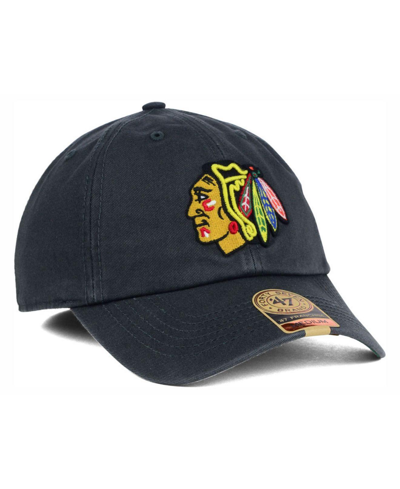 e09052b88ea ... netherlands lyst 47 brand chicago blackhawks nhl 47 franchise cap in  gray for men 51814 69e88 ...