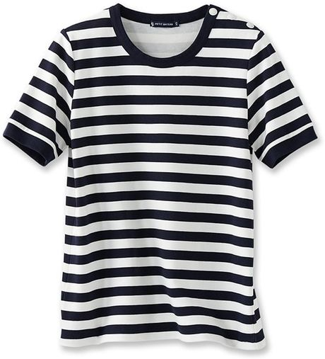 Petit bateau women 39 s striped shirt in white noctambule for Petit bateau striped shirt