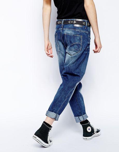 star raw g star arc 3d loose boyfriend jeans in blue midwash. Black Bedroom Furniture Sets. Home Design Ideas