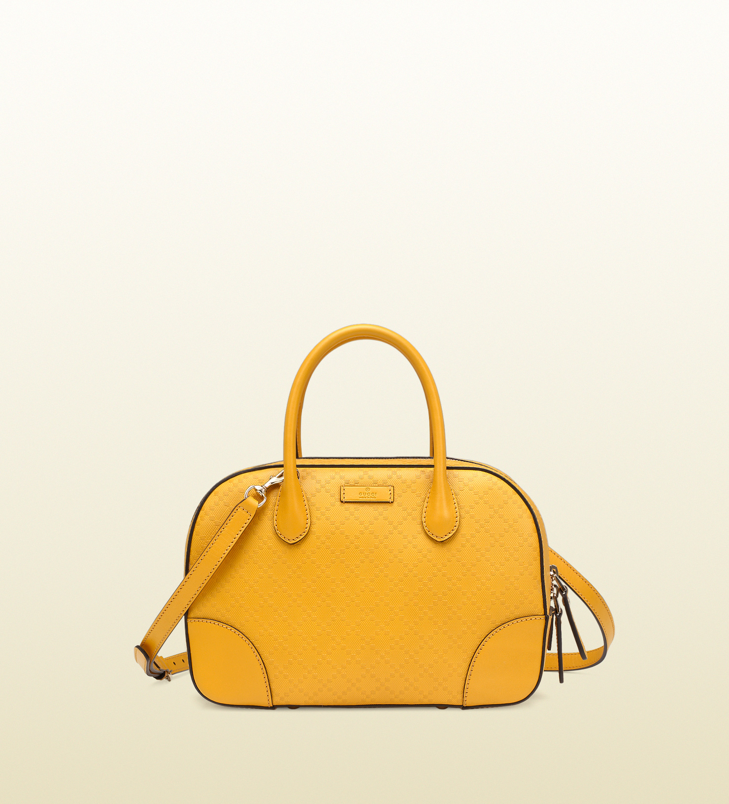 9c35554c3b0 Lyst - Gucci Bright Diamante Leather Top Handle Bag in Yellow