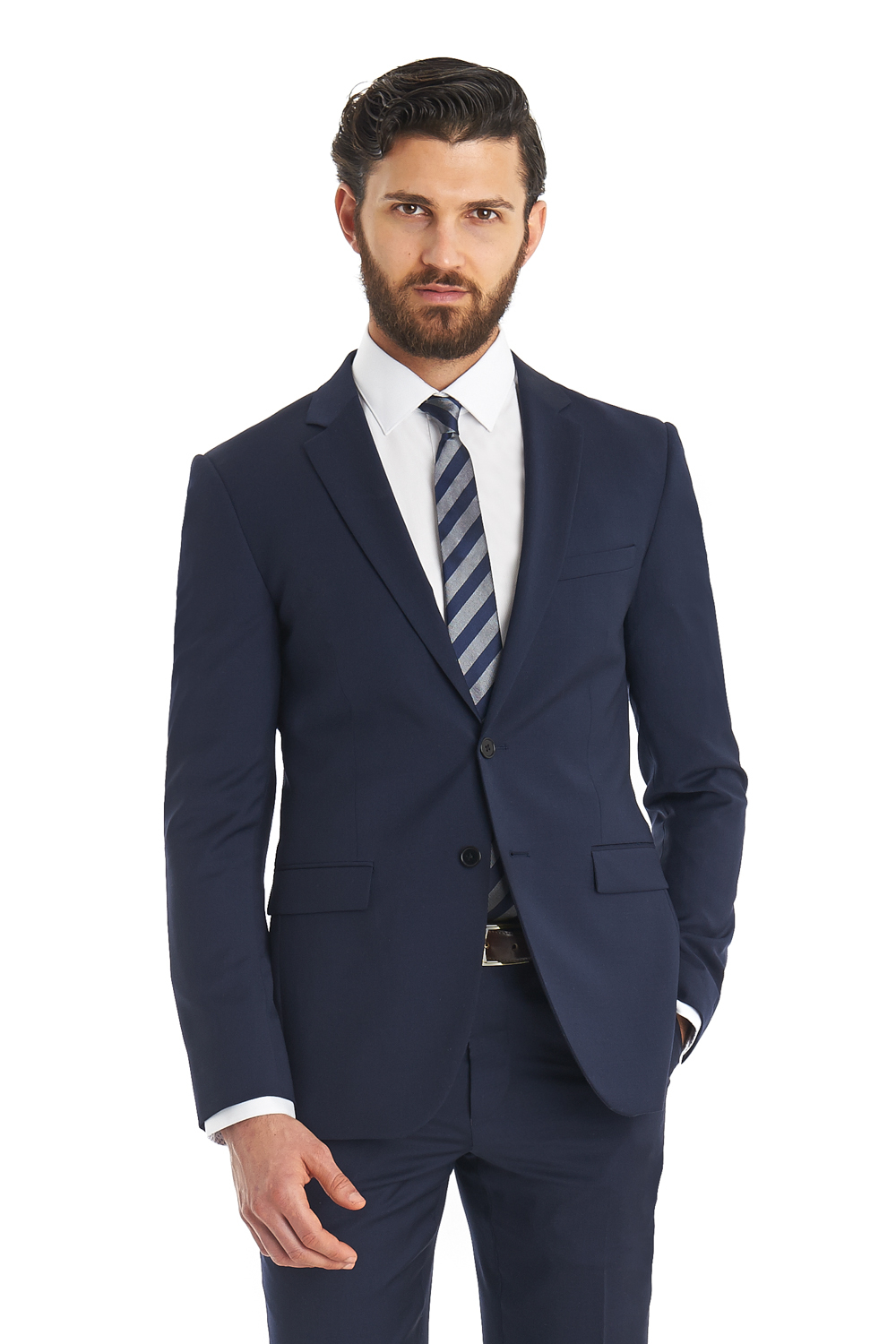 Dkny Slim Fit Blue 2 Piece Suit in Blue for Men | Lyst