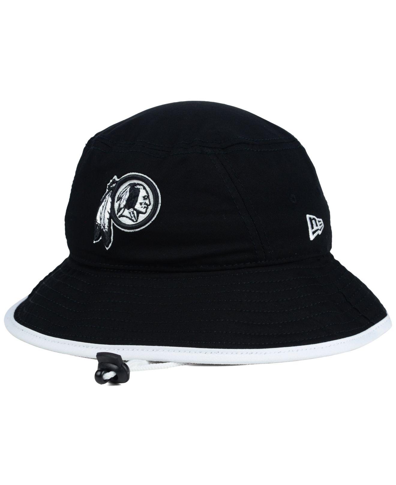 Lyst - KTZ Washington Redskins Nfl Black White Bucket Hat in Black ... 3e6112a58