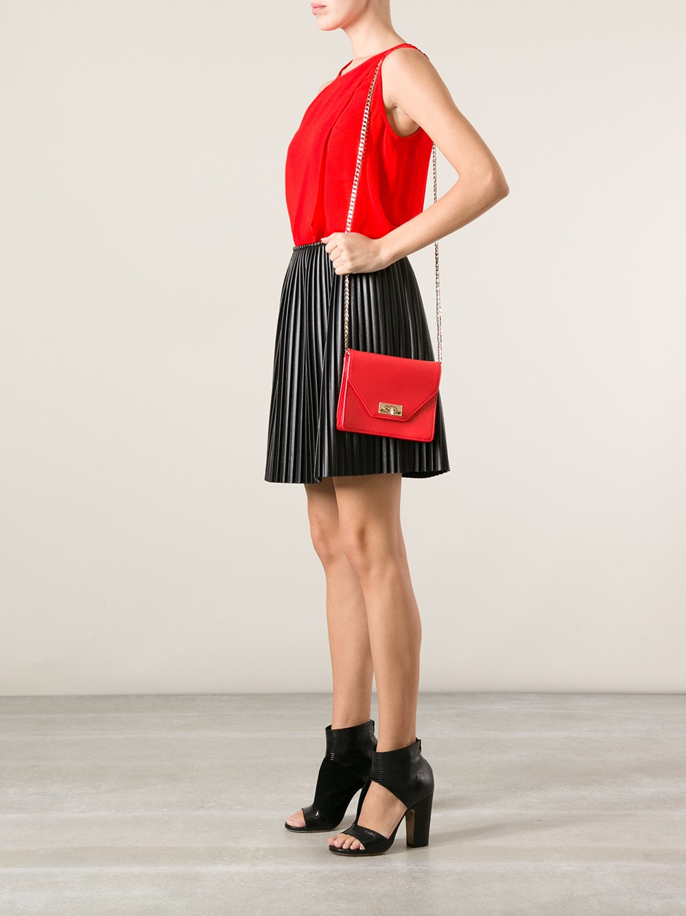 Lyst - Givenchy  shark  Shoulder Bag in Red 4f2772eee85df