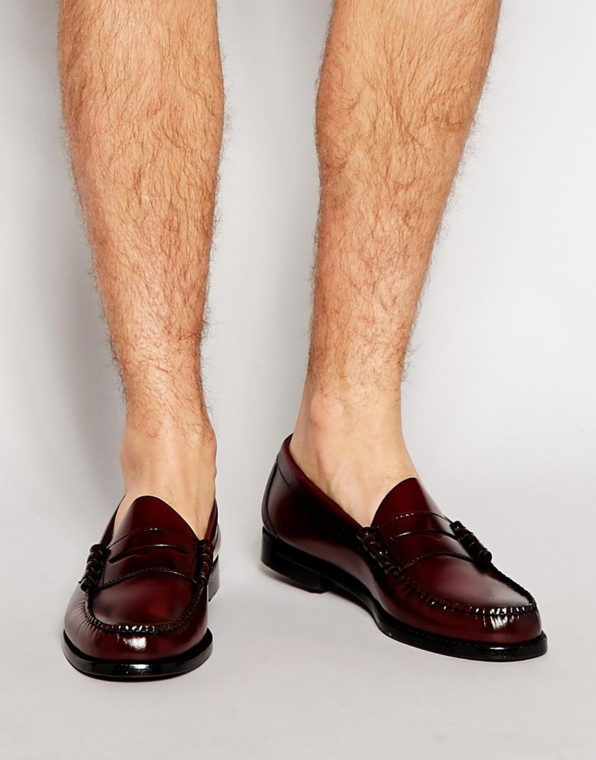 79bcdff0980 Lyst - G.H.BASS Gh Bass Larson Penny Loafers in Red for Men