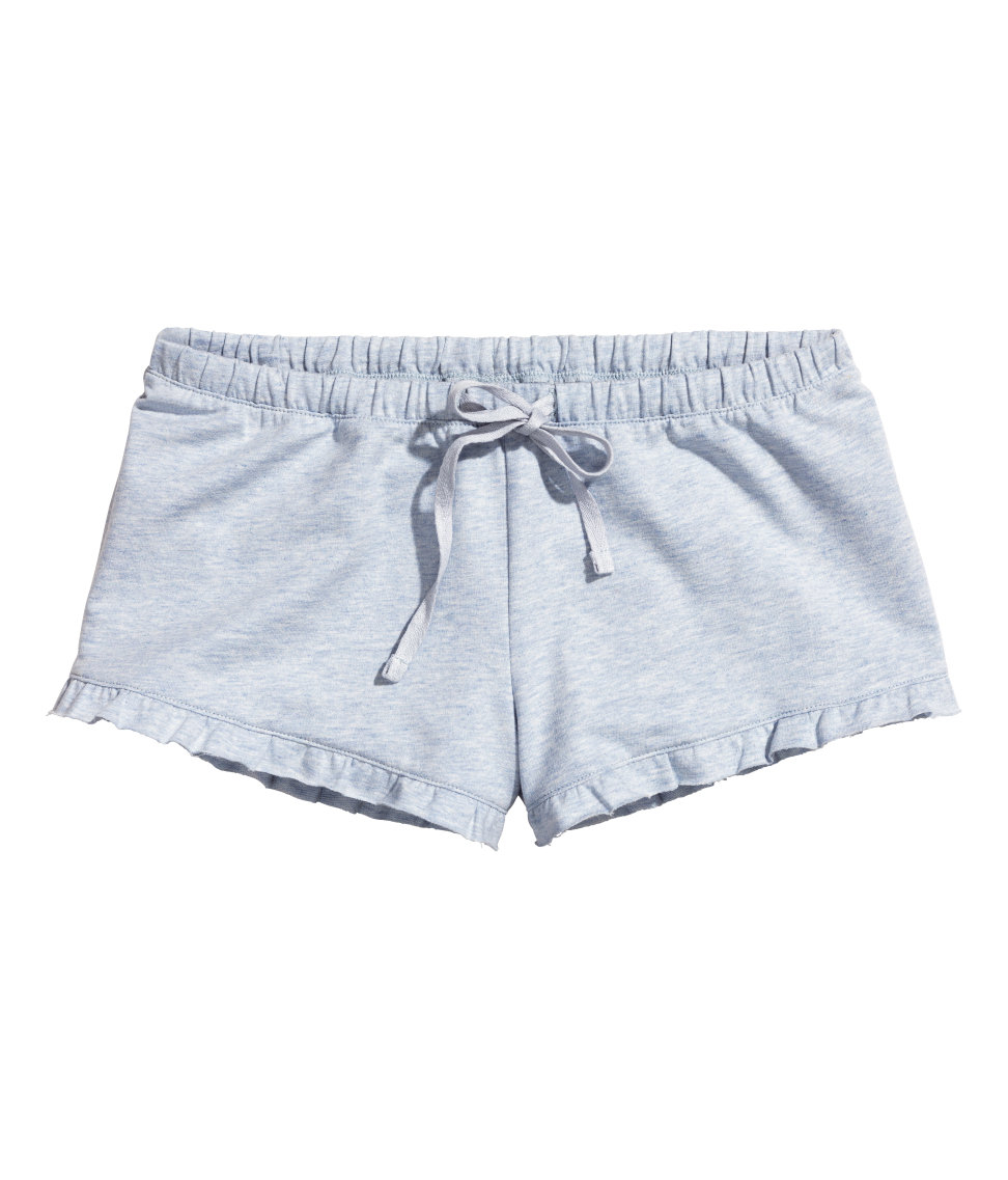 2bf0ee6606ee8 H&M Jersey Pyjama Shorts in Blue - Lyst