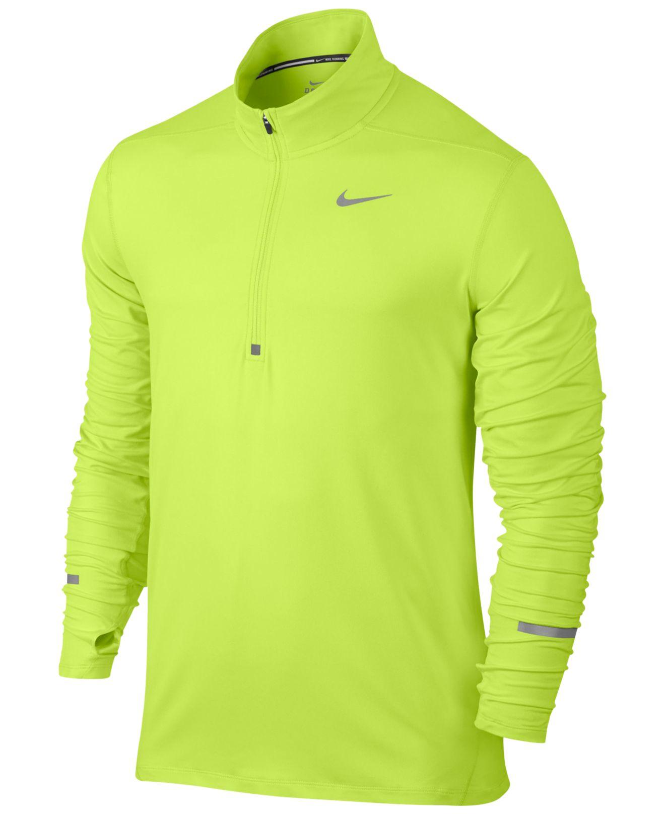 Lyst Nike Men 39 S Element Dri Fit Half Zip Running Shirt