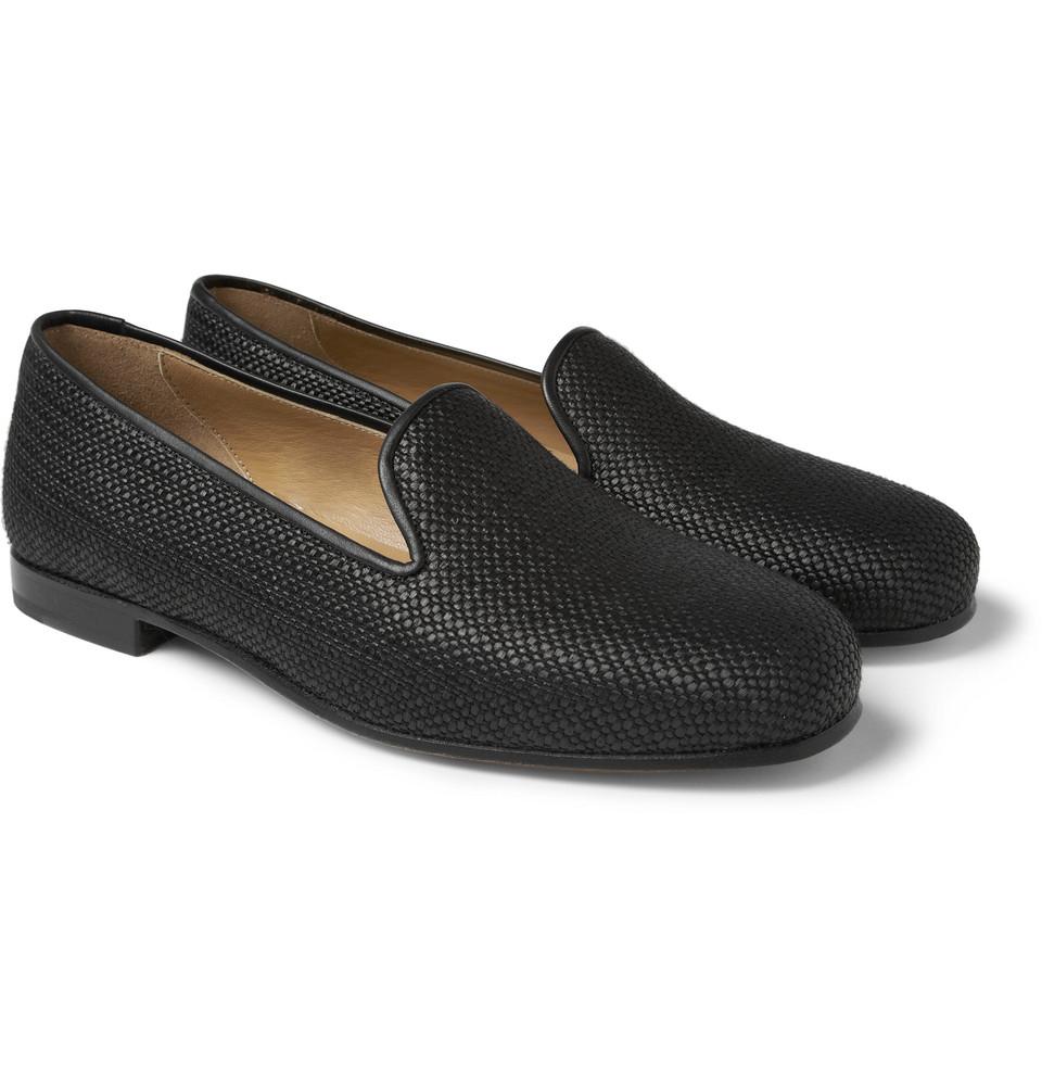 Black Raffia Slippers Stubbs & Wootton DBRu4N