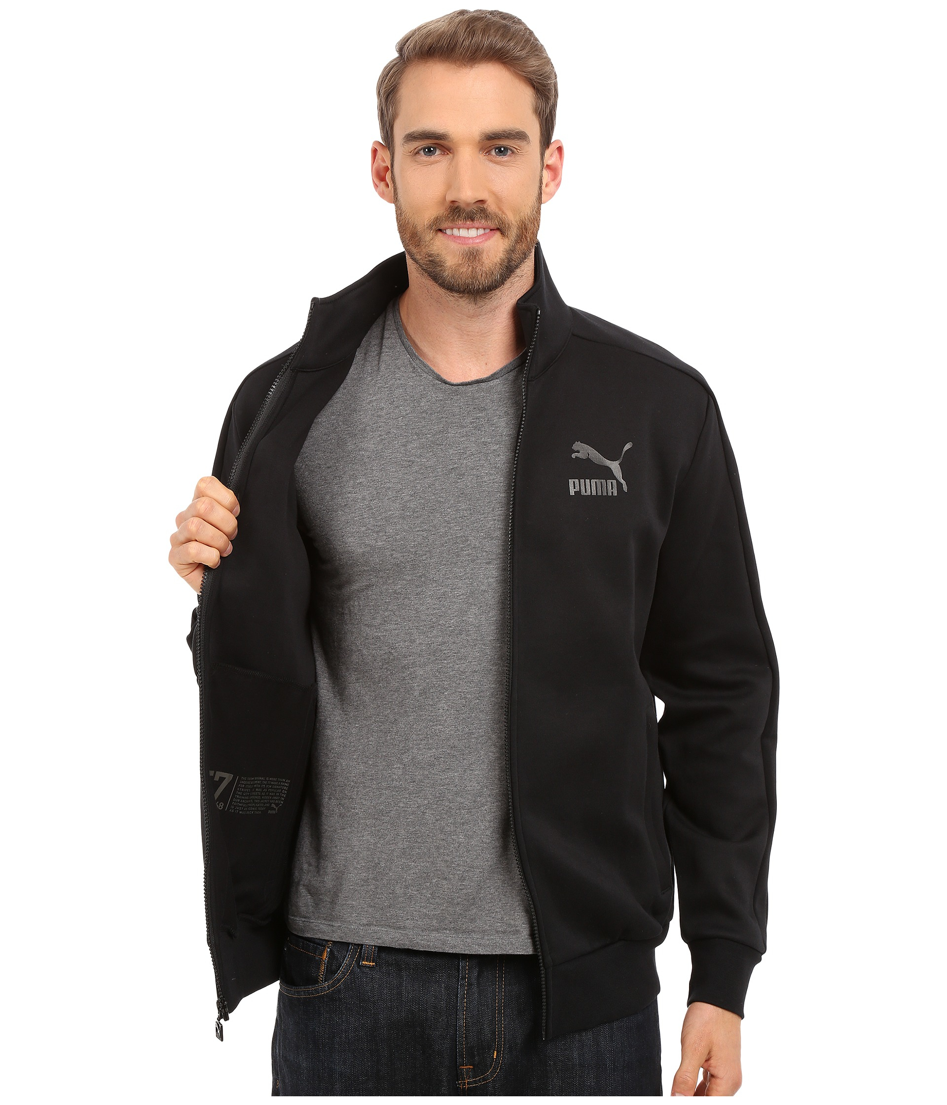 Lyst Puma Archive T7 Track Jacket In Black For Men