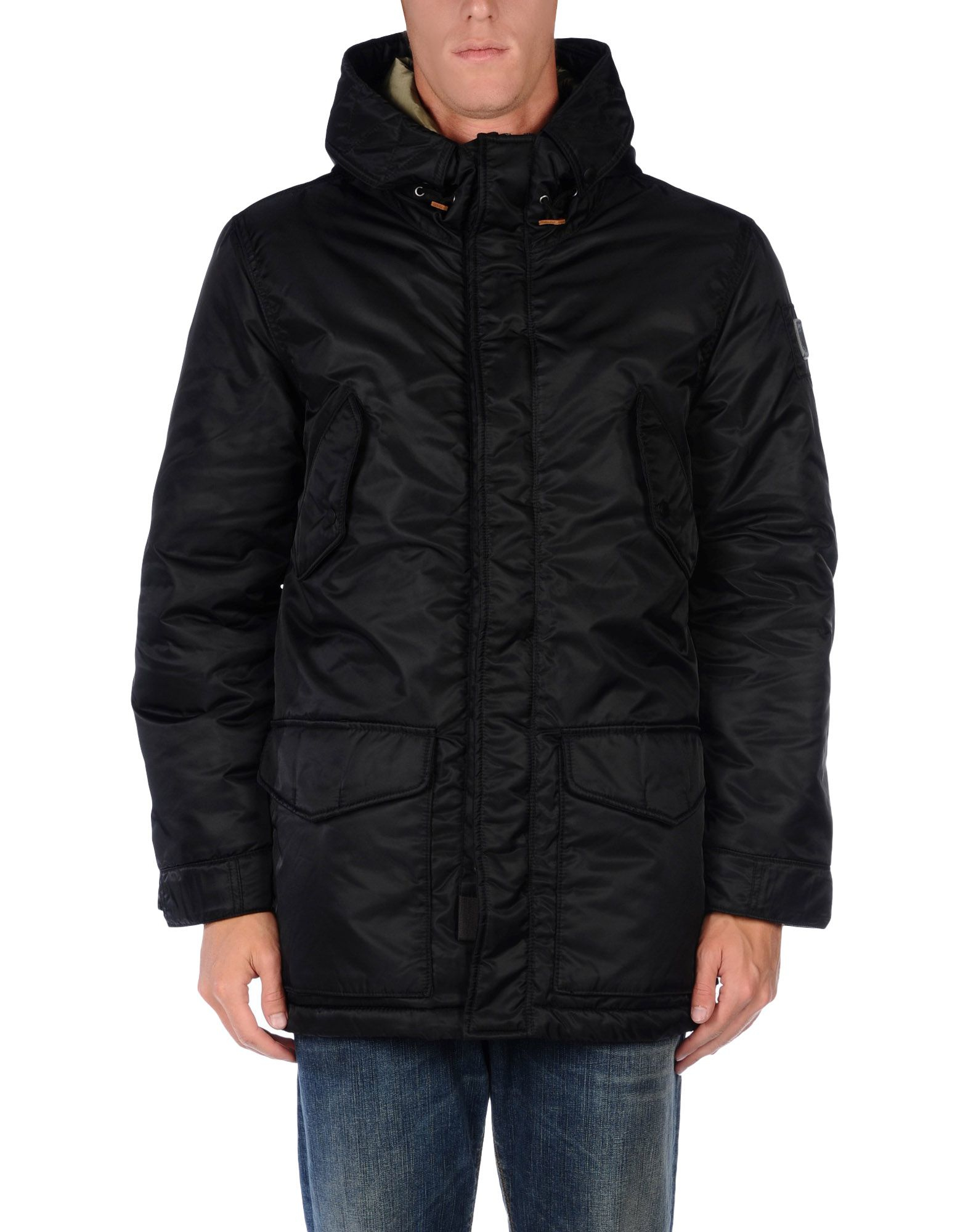 lyst replay jacket in black for men