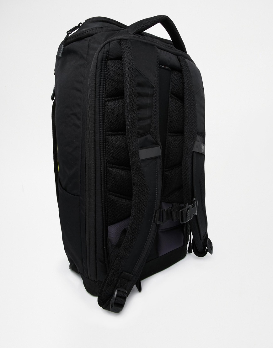 lyst the north face fuse box charged backpack in black for men. Black Bedroom Furniture Sets. Home Design Ideas