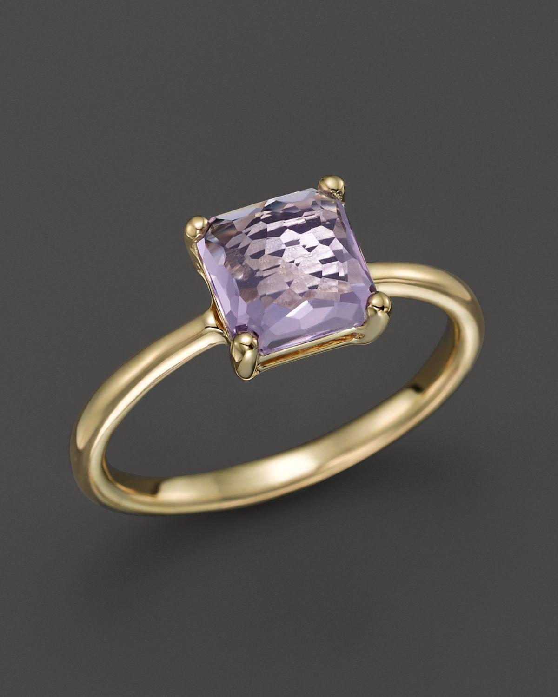 Ippolita Rock Candy 174 18k Gold Mini Single Square Stone