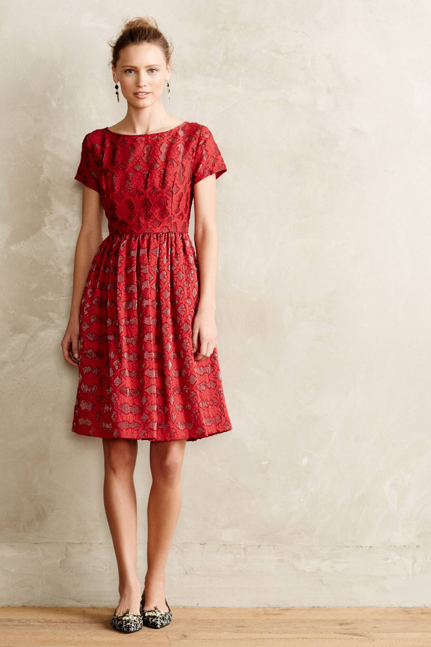 lyst moulinette soeurs rubied lace dress in red