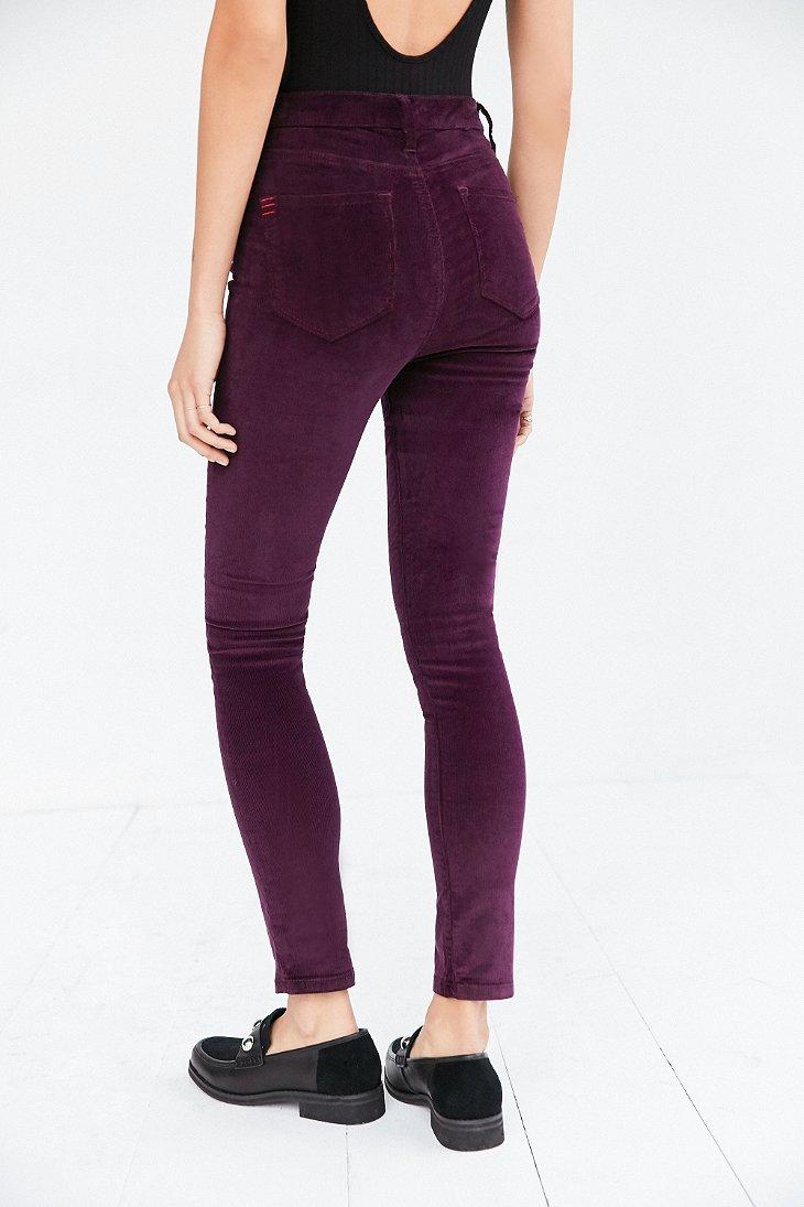 Bdg Twig Corduroy High-rise Skinny Pant - Plum in Purple | Lyst