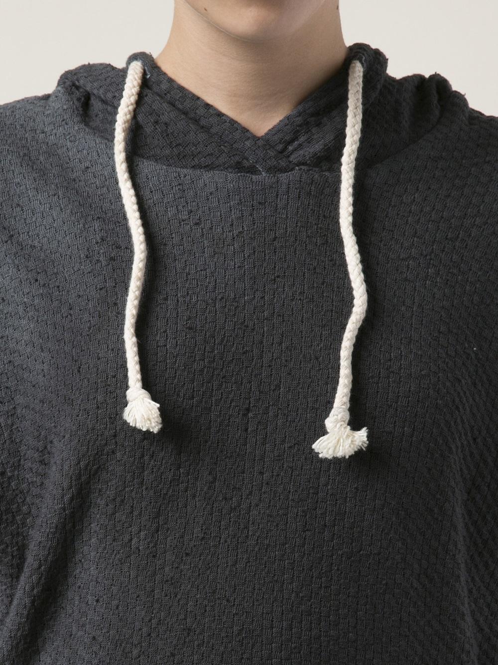 4f3d437bb Lyst - The Elder Statesman Basket Weave Hoodie in Black
