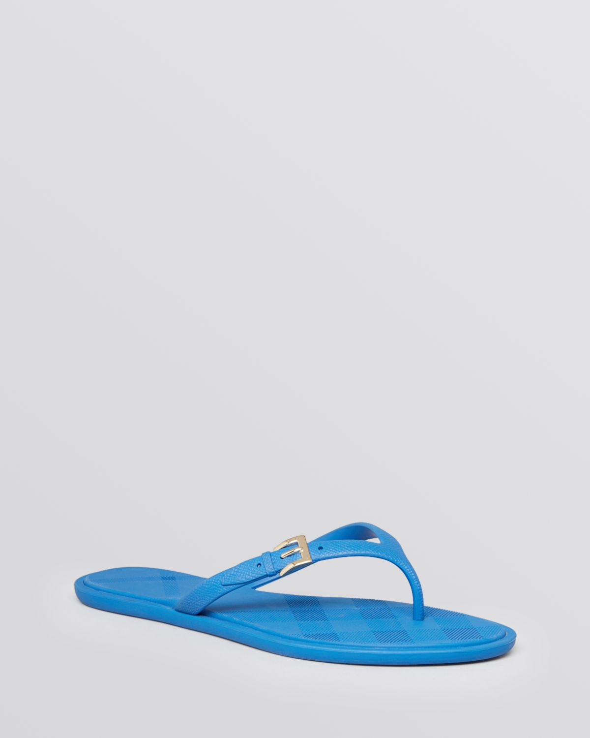b2e6f3a5b515 Lyst - Burberry Jelly Thong Flip Flop Sandals Wallford Flat in Blue