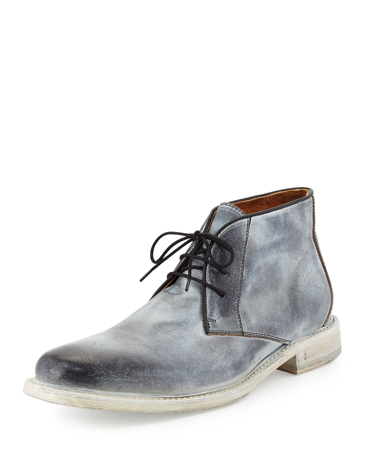 John varvatos College Leather Chukka Boots in Black for Men | Lyst