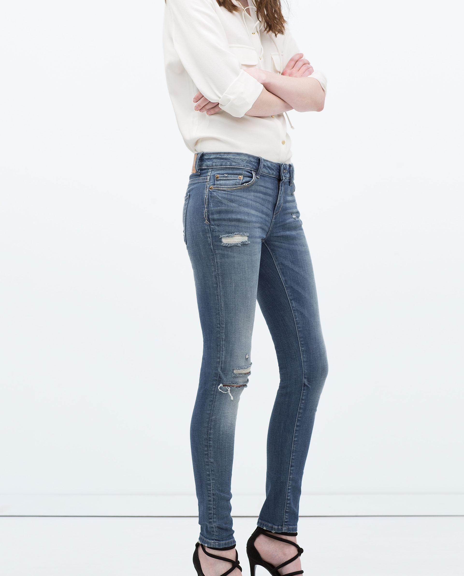 Brilliant Zara Jeans In Blue  Lyst
