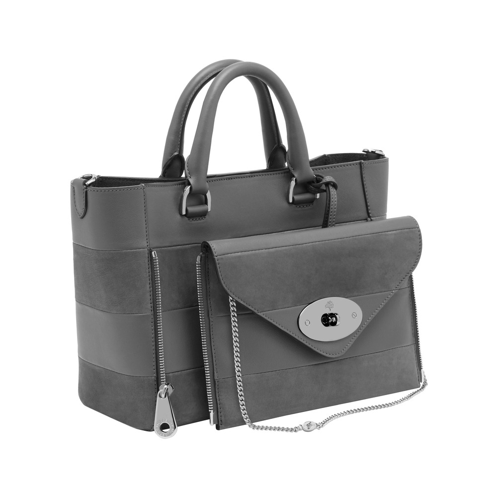 85cecacbaaa7 Lyst - Mulberry Small Willow Tote in Gray