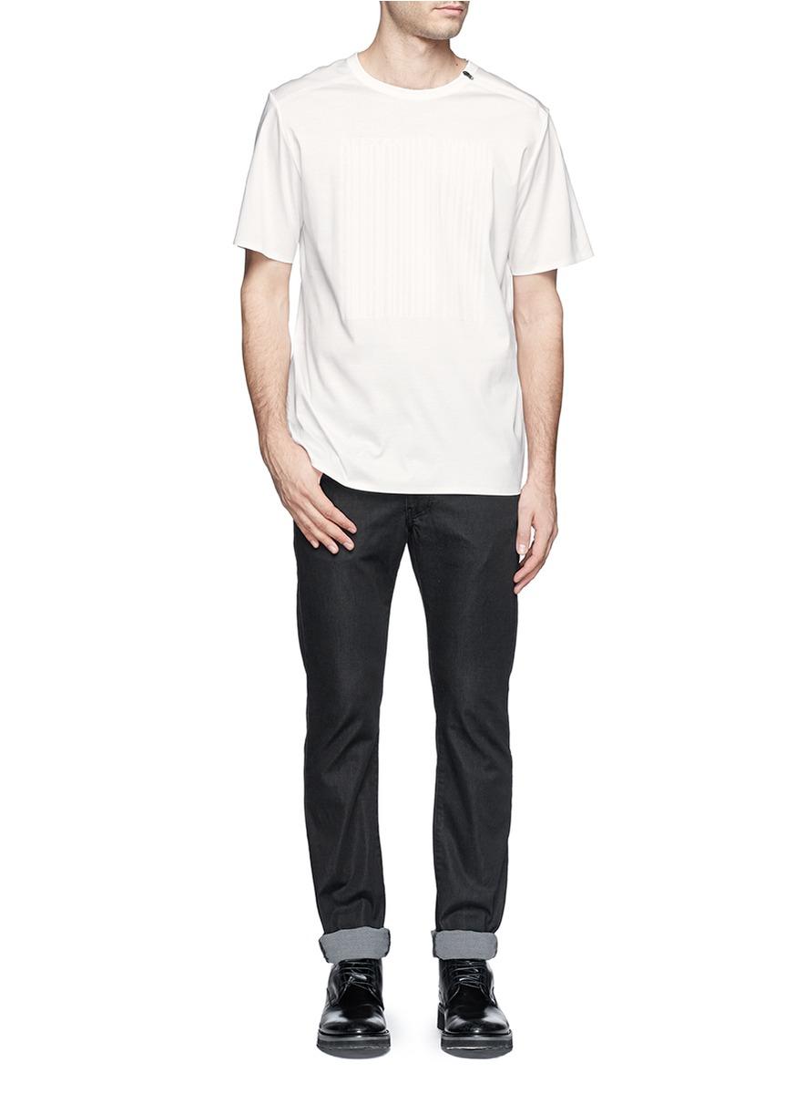 Lyst Alexander Wang Barcode Logo T Shirt In White For Men