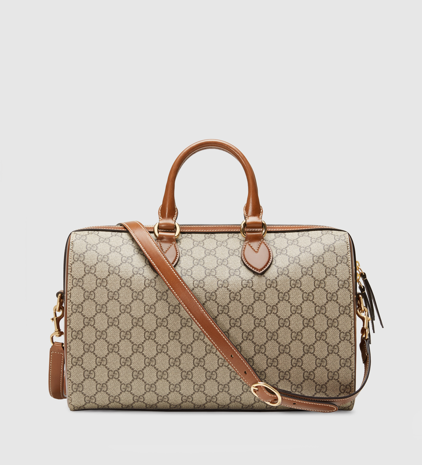 3233d3afaf79 Gucci Gg Supreme Top Handle Bag in Gray - Lyst