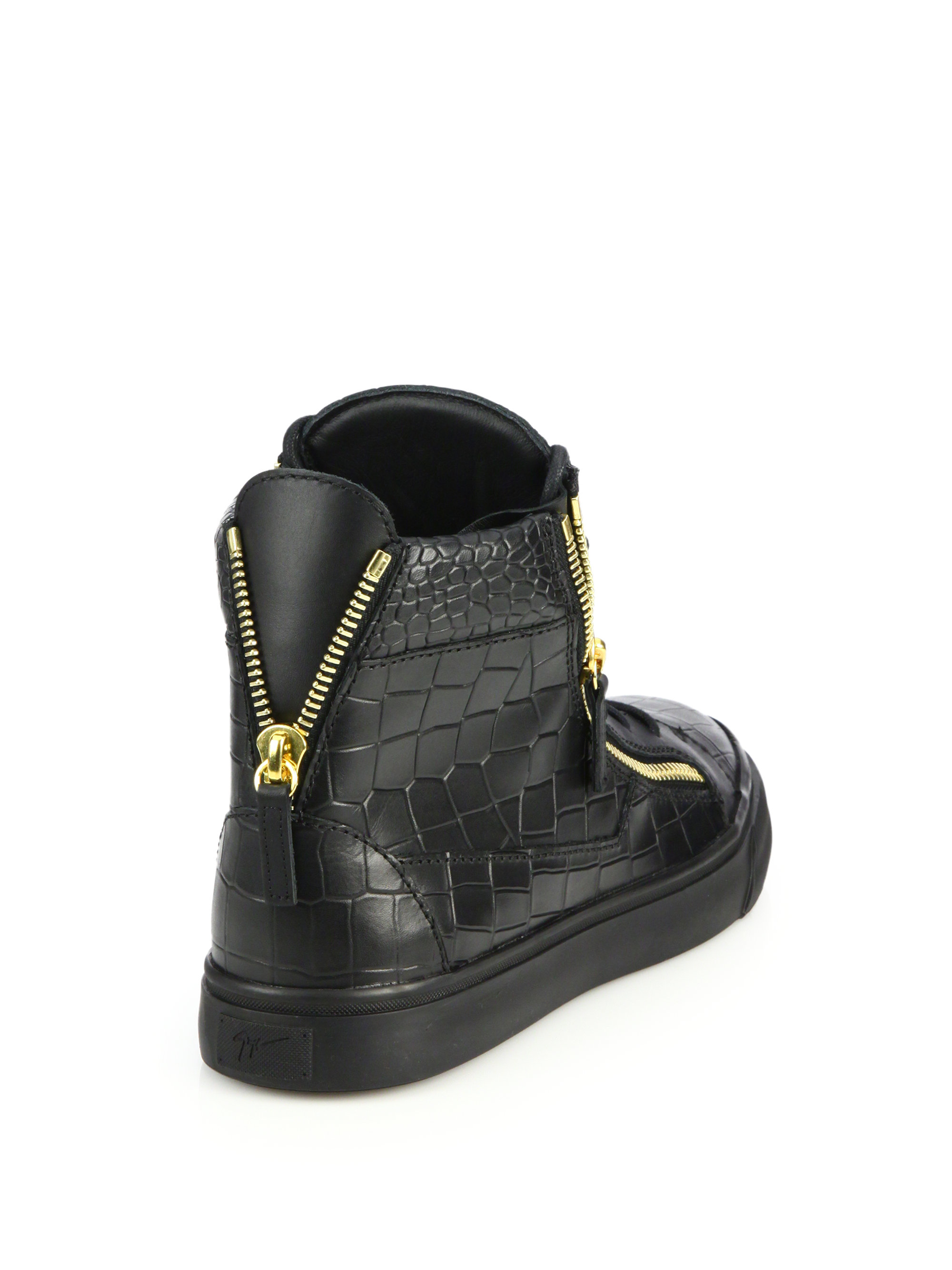 Supply For Sale Amazing Price For Sale Black Croc-Embossed Zayn High-Top Sneakers Giuseppe Zanotti NO8W0UCh