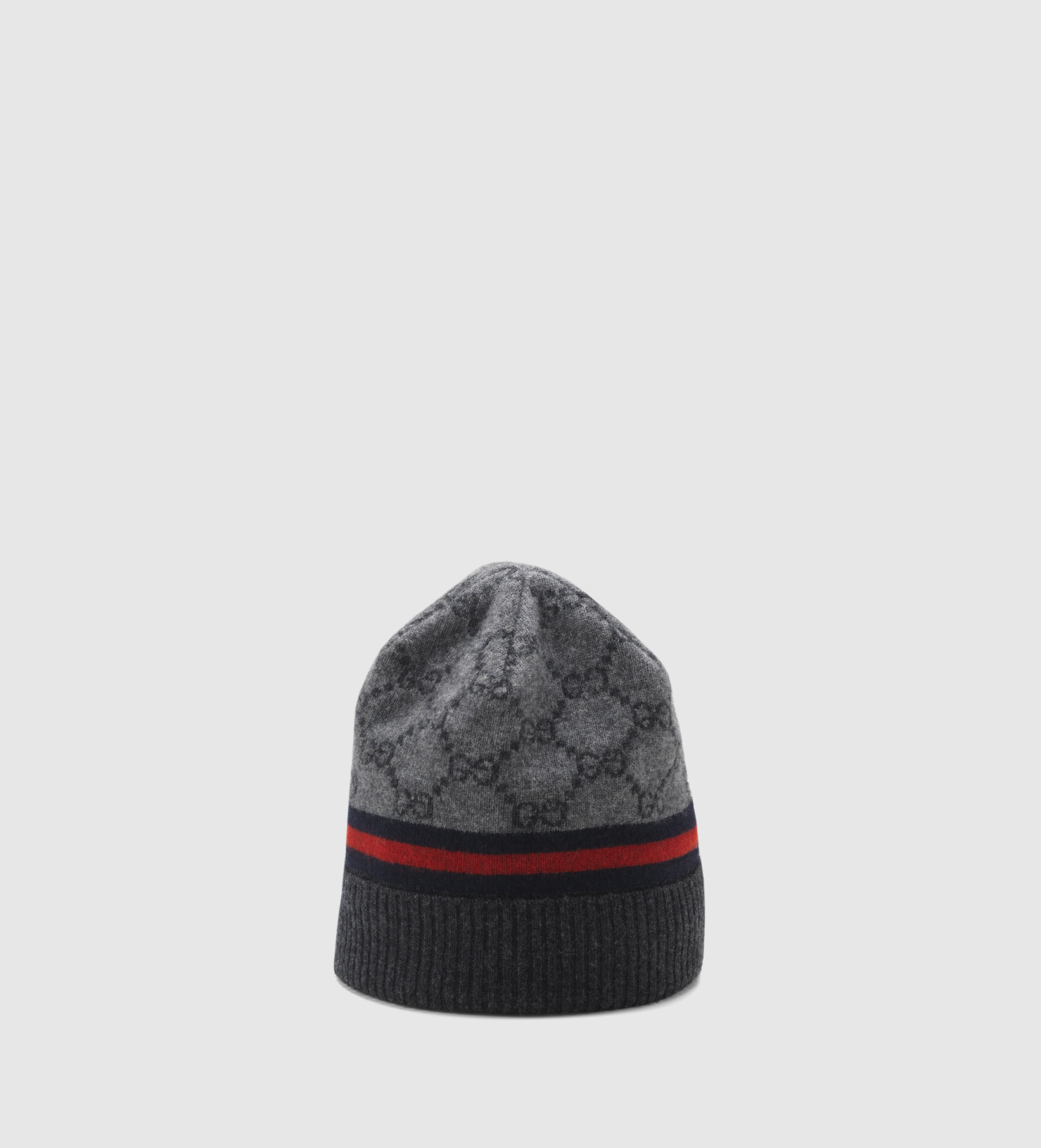 Gucci Gg Pattern Hat With Web Detail in Gray for Men - Lyst 889ddc19c44
