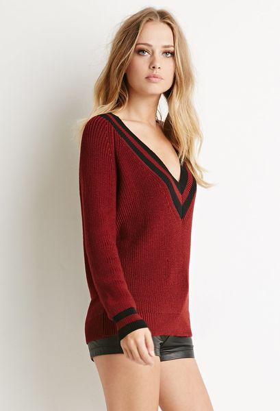 Varsity Stripe Sweater Forever 21 111