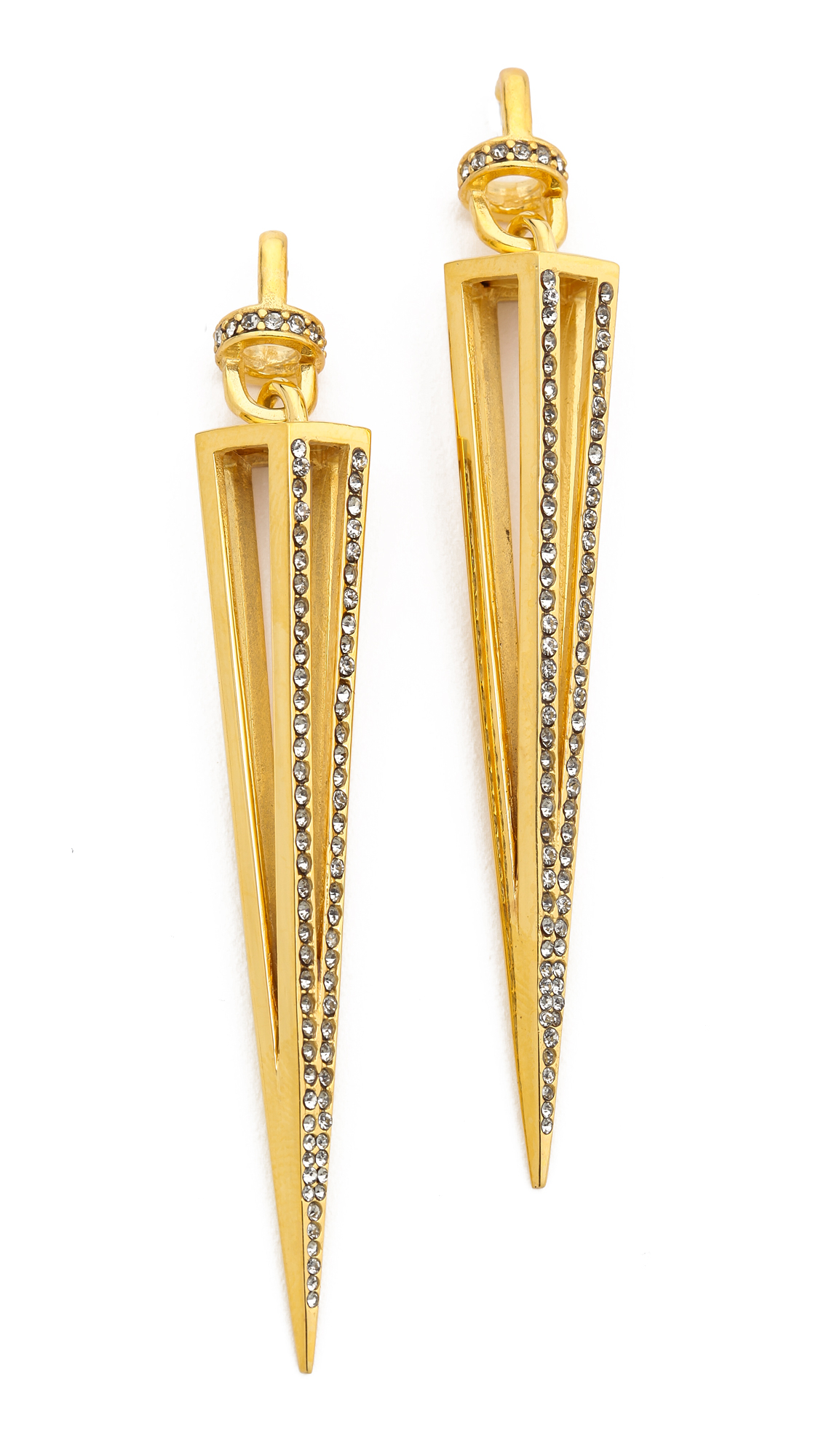 9763c7c11 Lyst - Paige Novick Claire Collection Caged Spike Earrings Shiny ...
