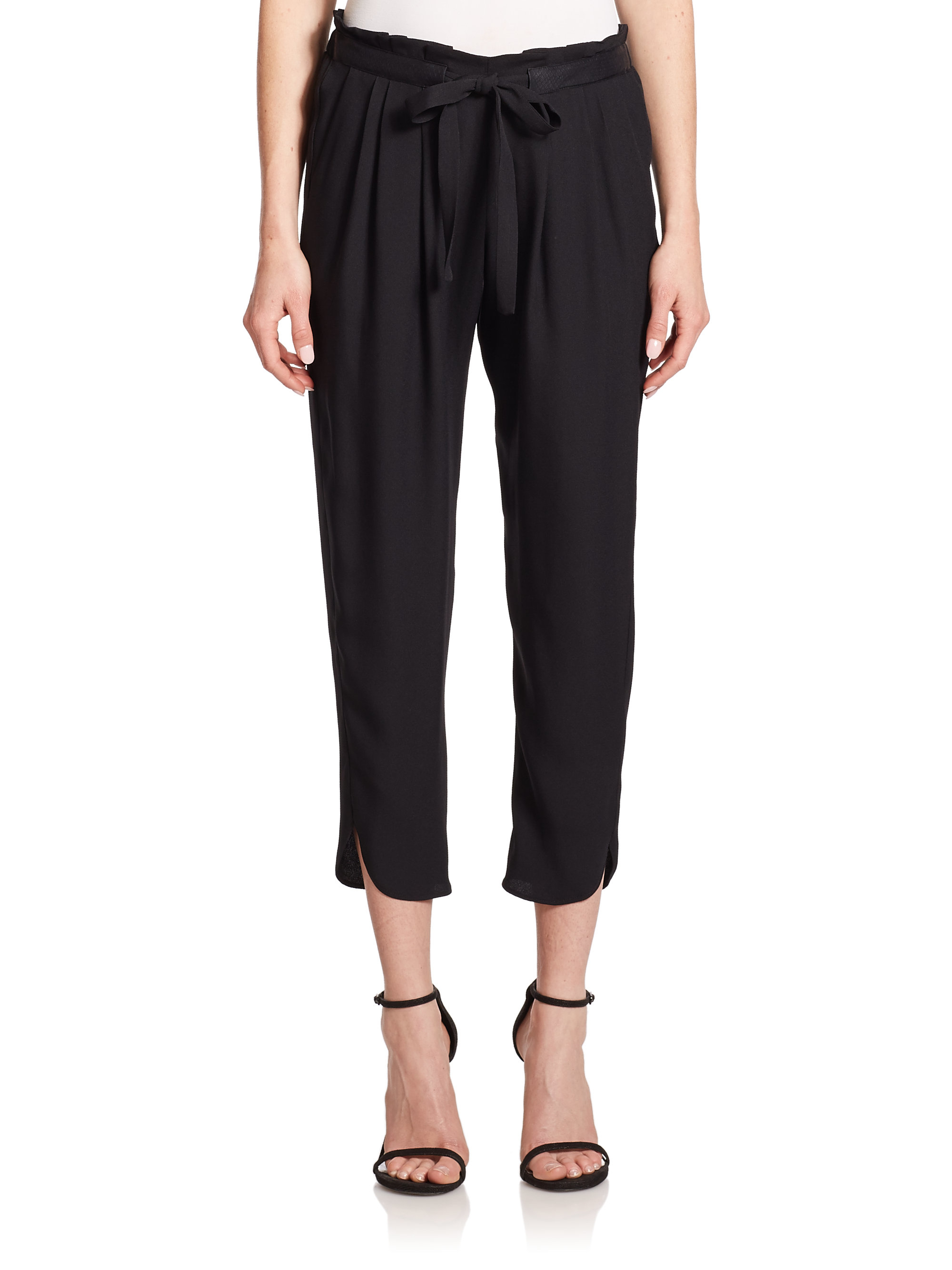 Ramy brook Allyn Stretch-silk Pants in Black | Lyst