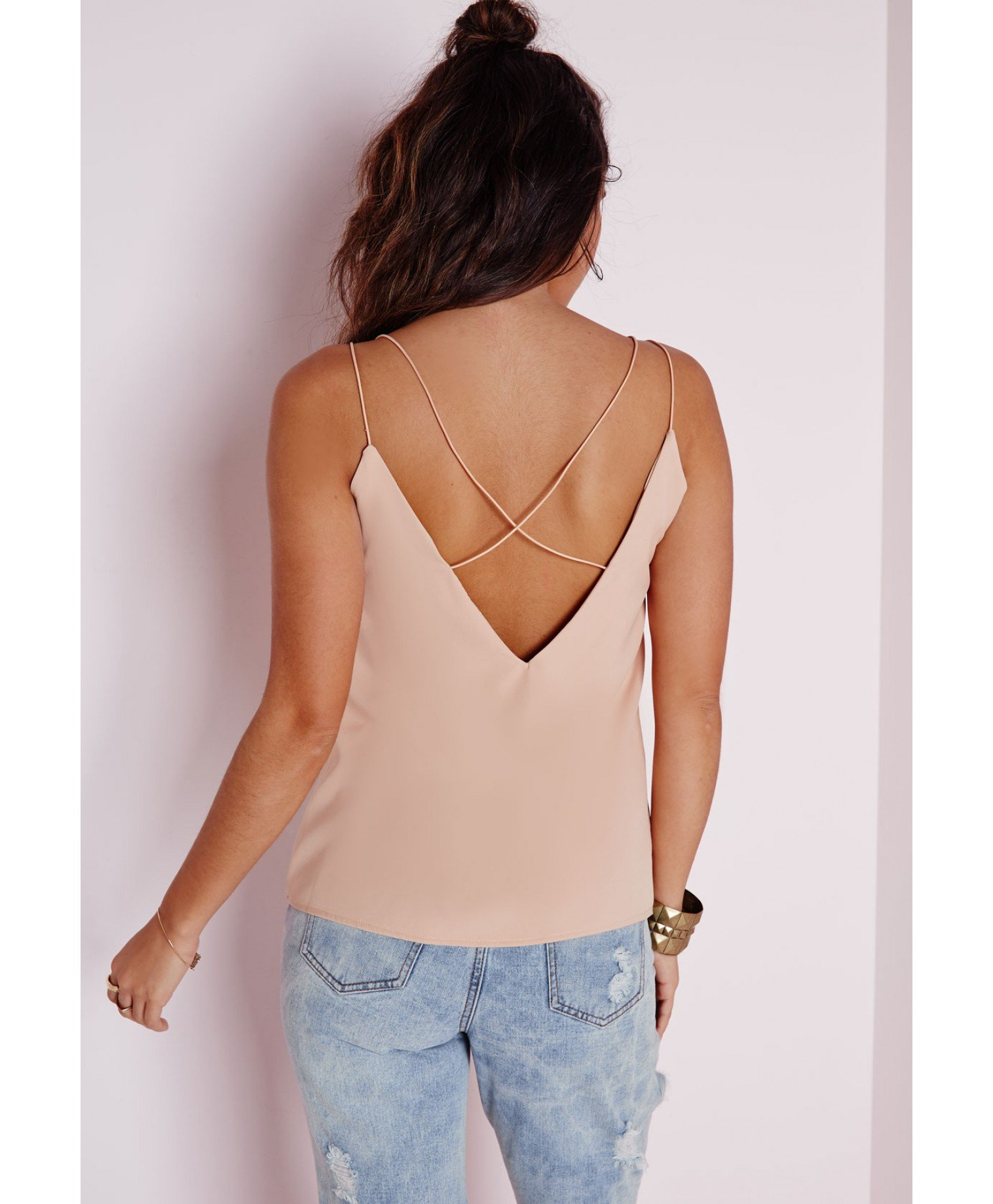 Lyst - Missguided Petite Nude Corded Lace Harness Bodysuit