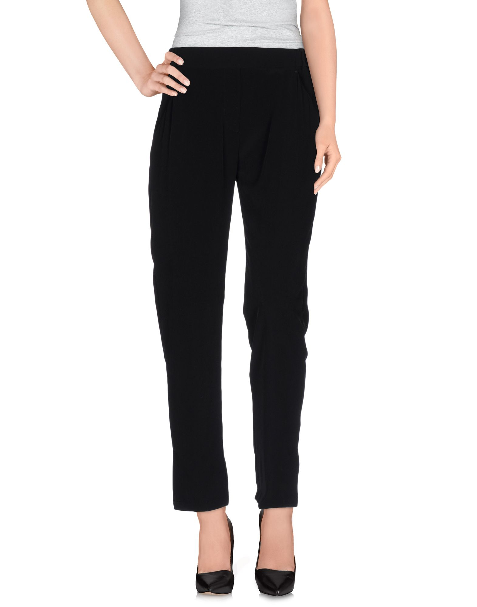Mm6 by maison martin margiela casual pants in black lyst for 10 moulmein rise la maison
