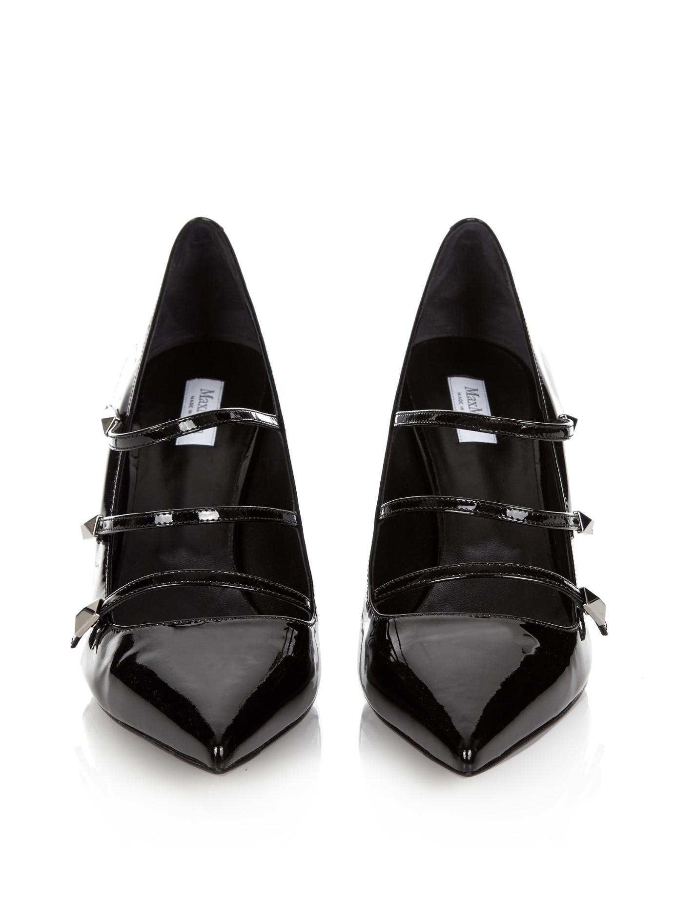Lyst Max Mara Sala Patent Pumps In Black