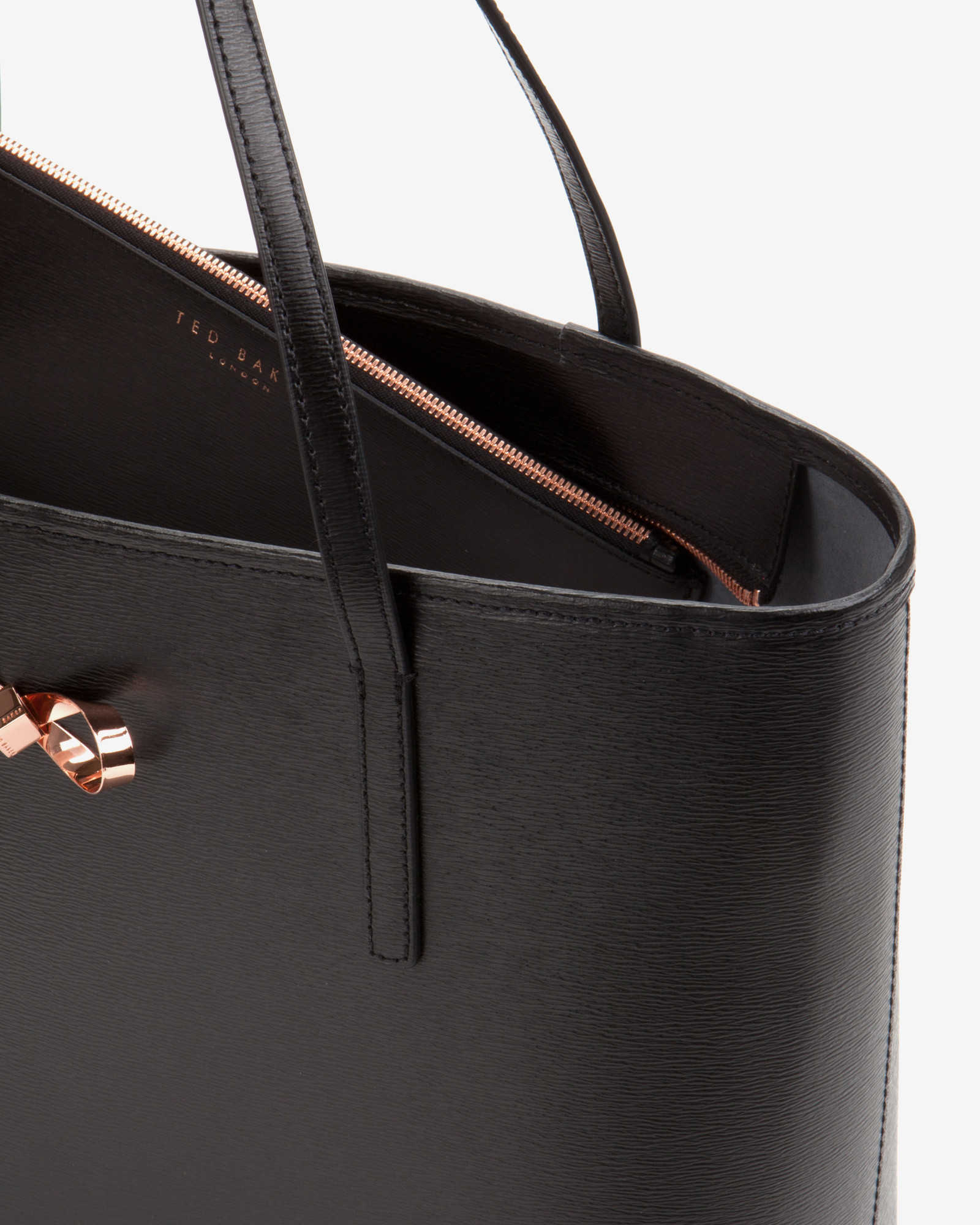 5e61d8fabc Ted Baker Bonnita Leather Tote in Black - Lyst