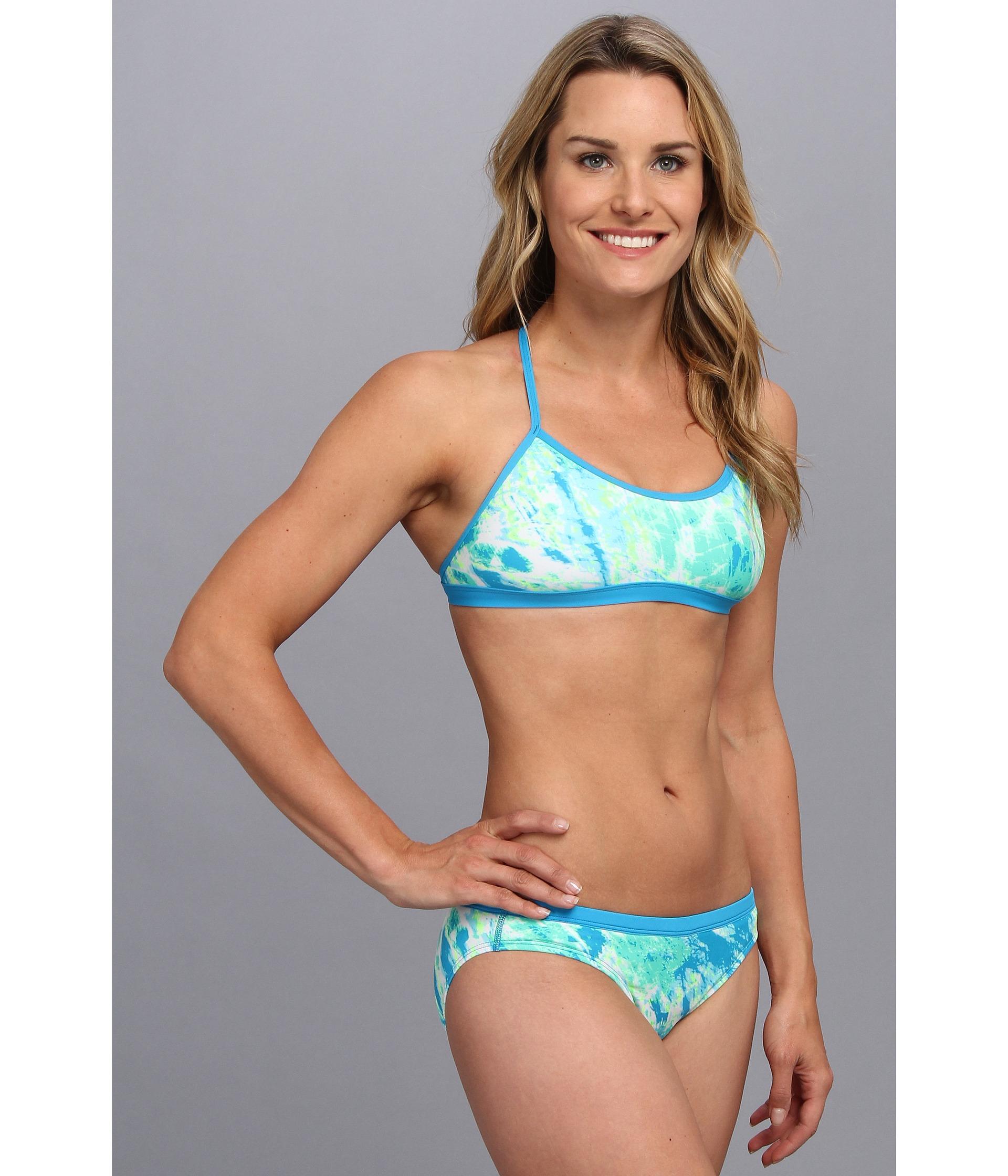 128da99529022 Lyst - Nike Adjustable Sport Top Two-Piece Swimsuit in Blue
