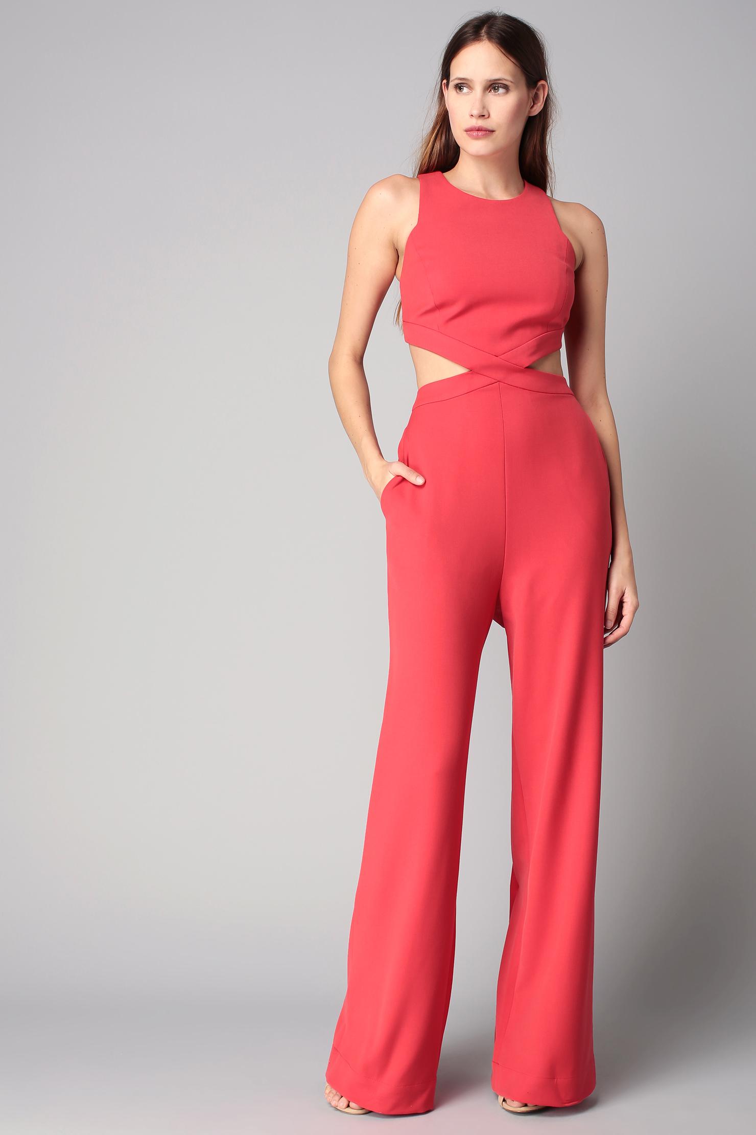Bcbgmaxazria Jumpsuit in Red | Lyst