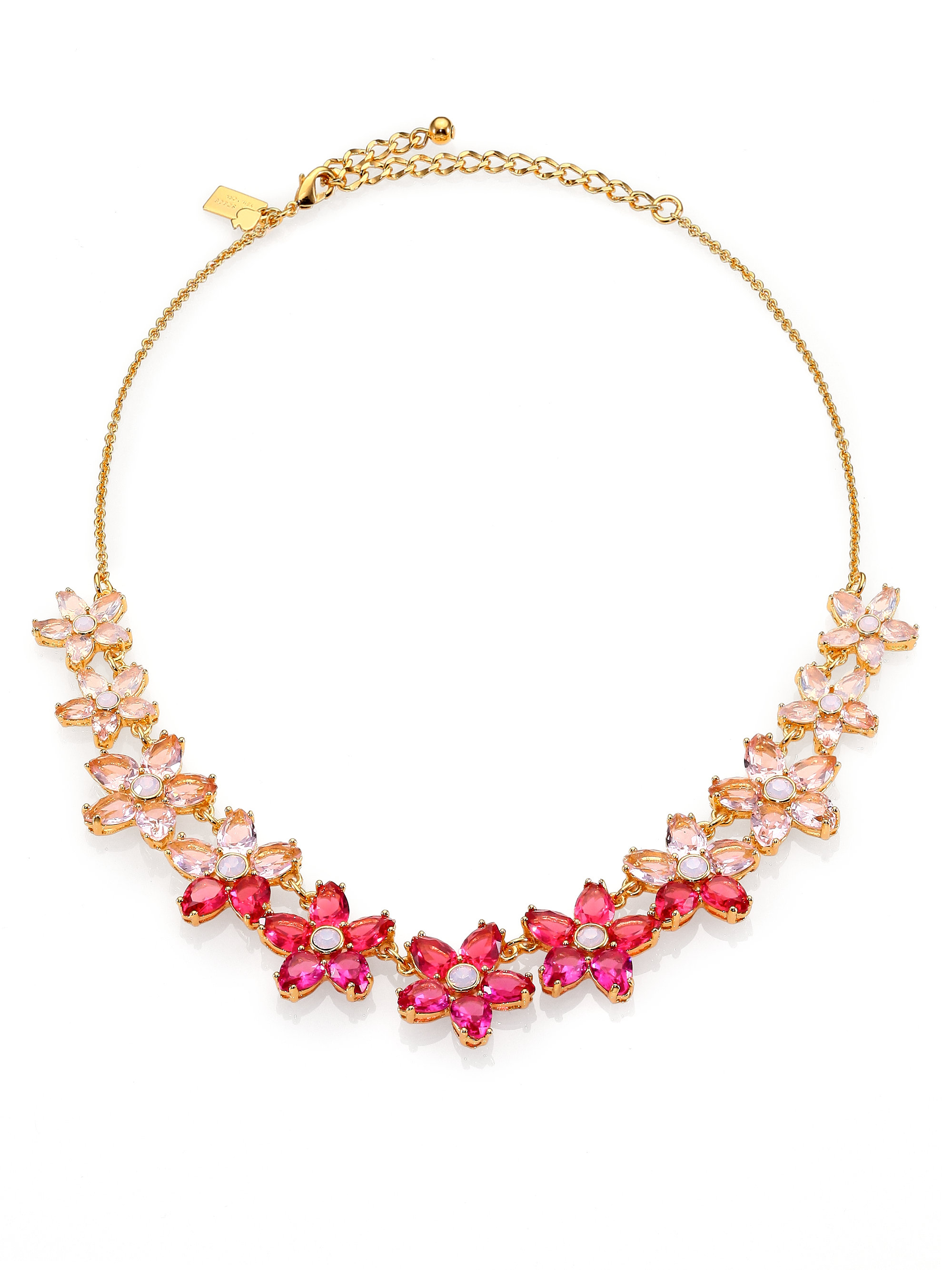 Kate Spade Ombre Bouquet Small Necklace In Pink Lyst