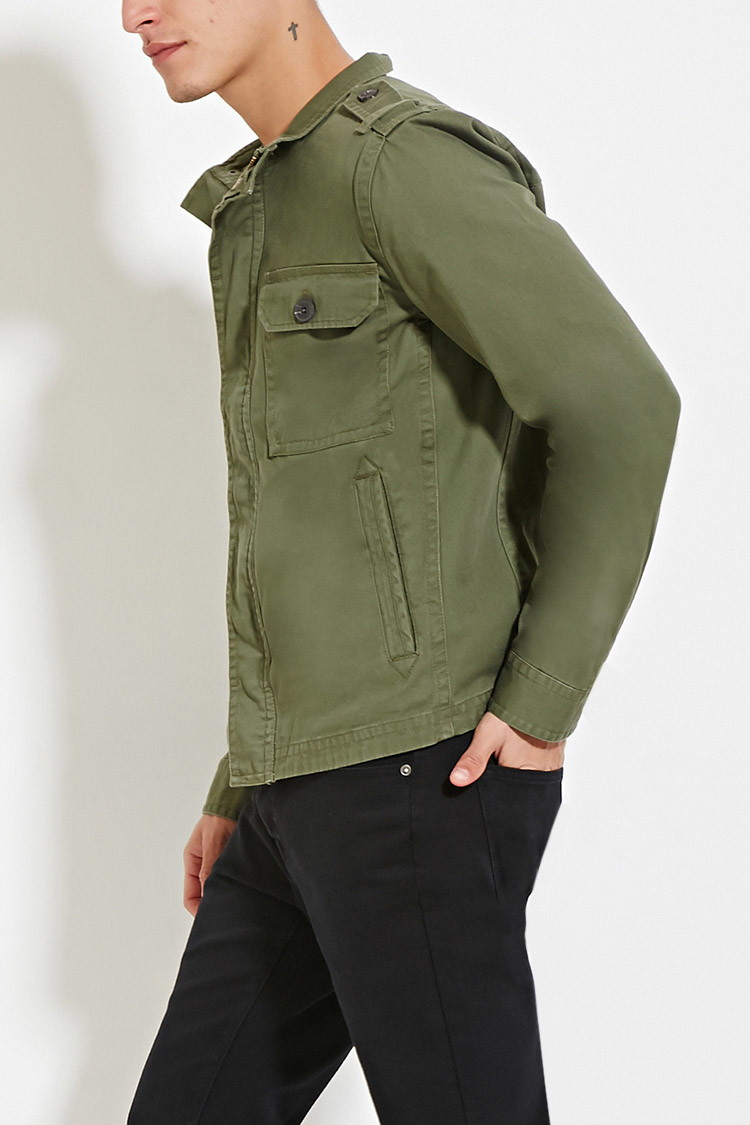 d354206da09e4 Green Green Funnel Jacket 21 21 21 For In Men Lyst Neck Forever RXt5nw1qt