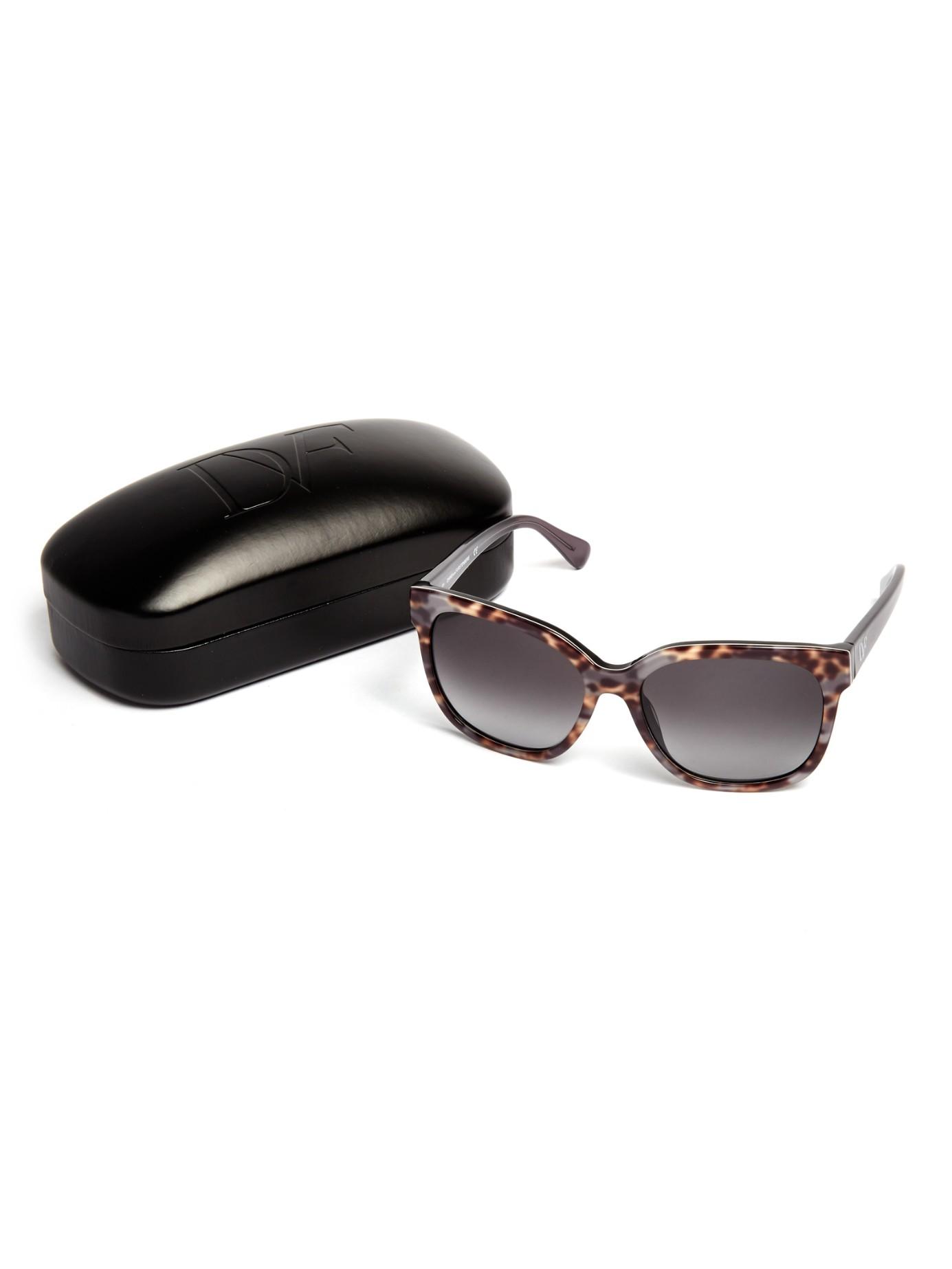 f32584a91d Diane von Furstenberg Julianna Sunglasses in Black - Lyst