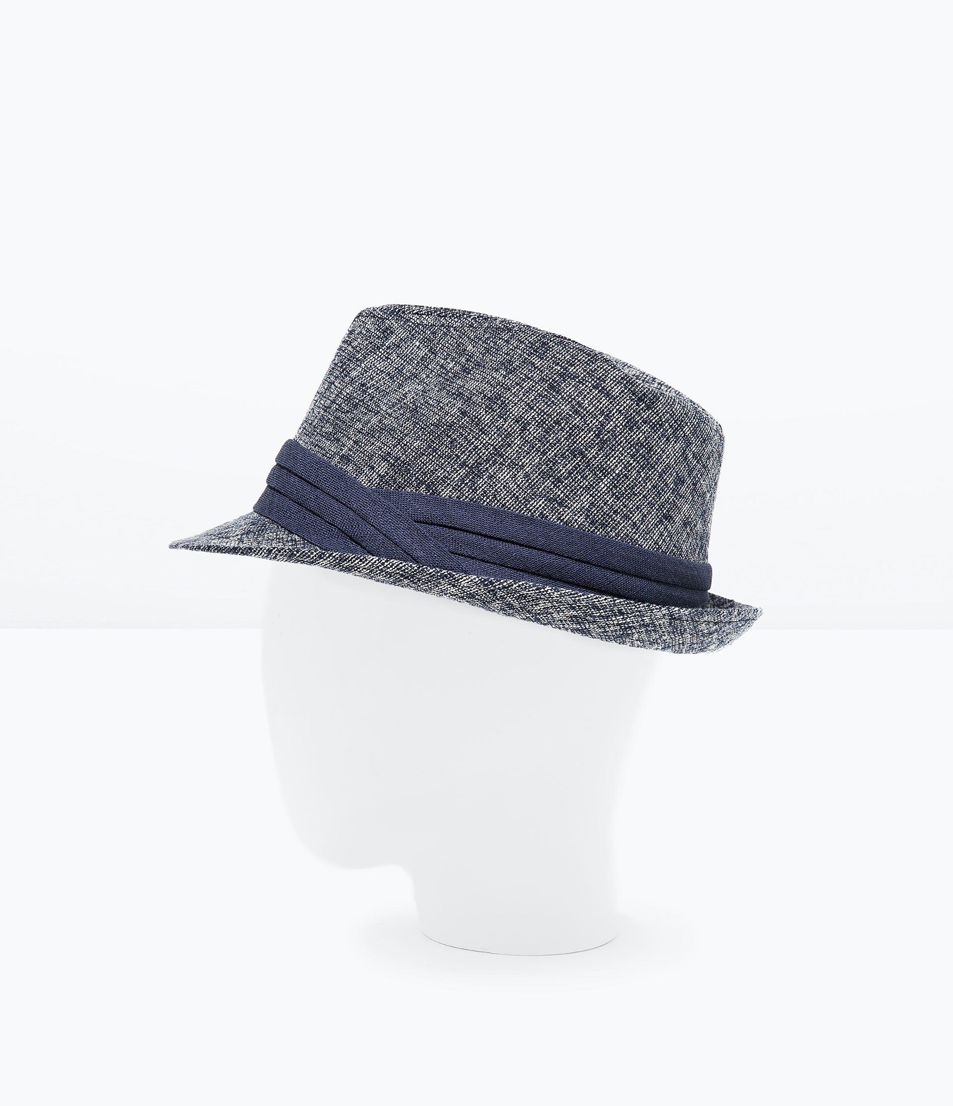 zara two tone hat in blue lyst