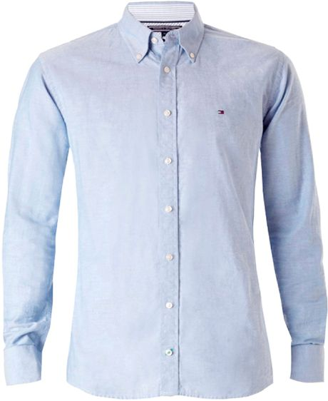 Tommy Hilfiger College Oxford Shirt In Blue For Men Mid
