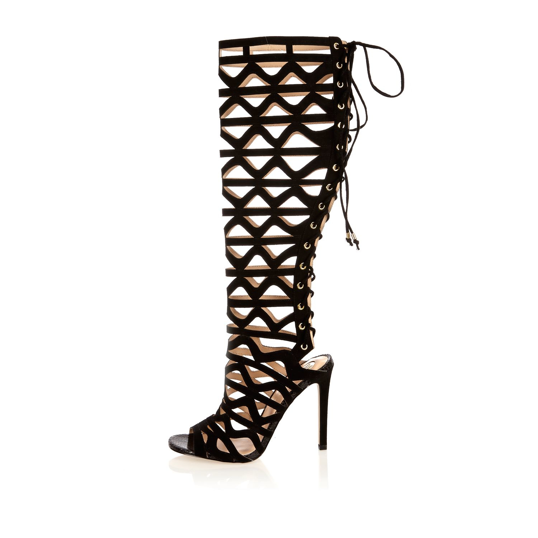 Lace Up Leg High Heels
